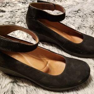 Clark's Artisan Leather Mary Jane Wedges